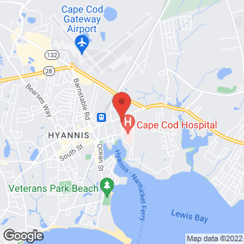 Map of Liam A. Haveran, DO, FACS at 105 Park Street, Hyannis, MA 02601