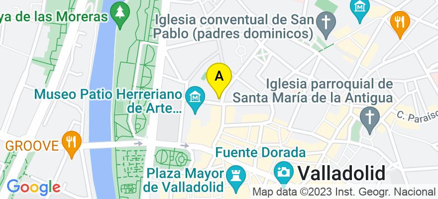 situacion en el mapa de . Direccion: C/ SAN IGNACIO 1, 3º, 47003 Valladolid. Valladolid