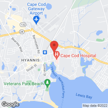 Map of Mark Loewen, MD, FACS at 105 Park Street, Hyannis, MA 02601