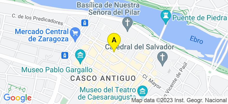 situacion en el mapa de . Direccion: C/Alfonso I Nº 32 3º C, 50003 Zaragoza. Zaragoza