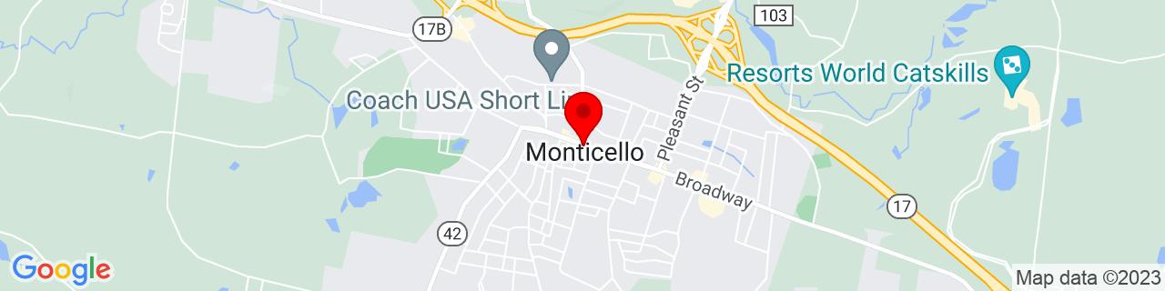 Google Map of 41.65555555555555, -74.68944444444445