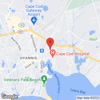Map of James R. Burke, MD at 110 Main Street, Unit B, Hyannis, MA 02601