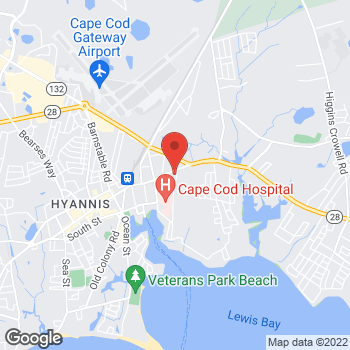 Map of Amy French, MD at 25 Main Street, Hyannis, MA 02601
