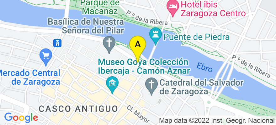 situacion en el mapa de . Direccion: Pº Mª Agustín, 1, 2º C, 50004 Zaragoza. Zaragoza