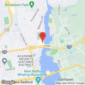 Map of Taco Bell at 85 Coggeshall St, New Bedford, MA 02746