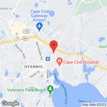 Map of Lawrence B. Pliss, MD at 91 Camp Street, Hyannis, MA 02601