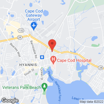 Map of Christopher R. Jackson, MD at 65 Cedar Street, Hyannis, MA 02601