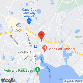 Map of Elizabeth A. Mahanor, MD, FACS at 100 Camp Street, Hyannis, MA 02601