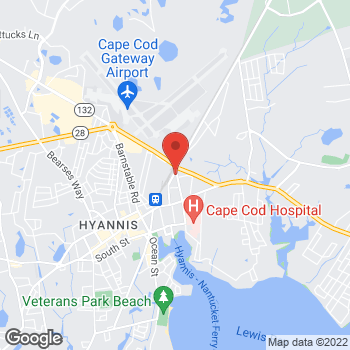 Map of John A. Kalin, MD, FACC at 140 Yarmouth Road, Hyannis, MA 02601