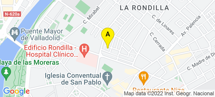 situacion en el mapa de . Direccion: Caalle Fundaciones 10, 2 der, 47010 Valladolid. Valladolid