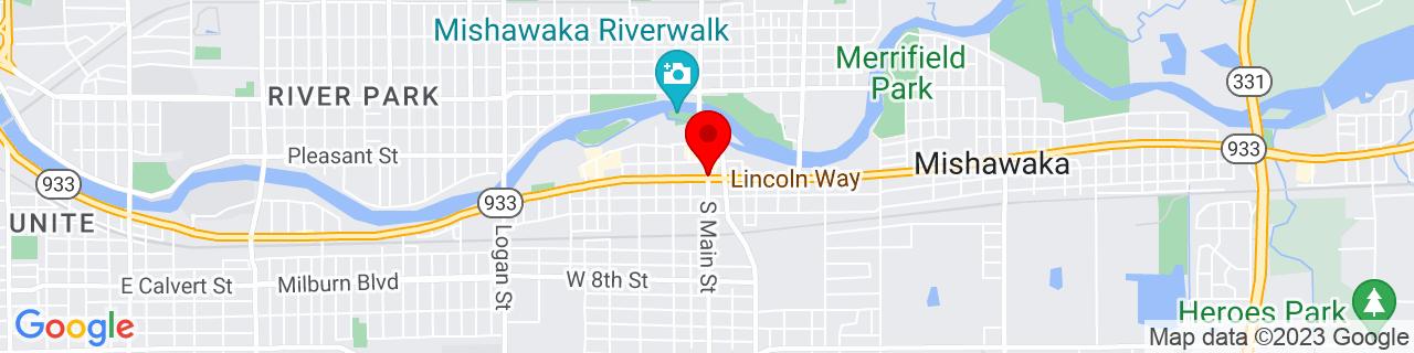 Google Map of 41.66123779999999, -86.18065949999999