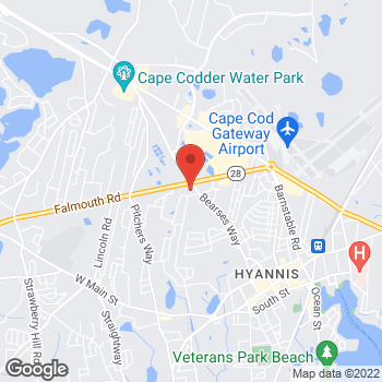 Map of G. Curtis Barry, MD at 489 Bearses Way, Hyannis, MA 02601