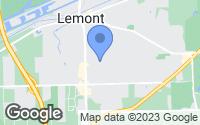 Map of Lemont, IL