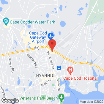 Map of Rite Aid at 360 Barnstable Road, Hyannis, MA 02601