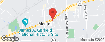 Map of 8518 Mentor Ave in Mentor