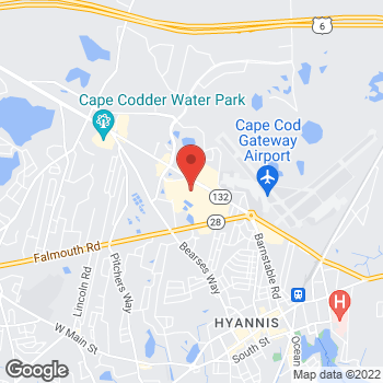 Map of Sunglass Hut at Macy's at 769 Iyannough Rd, Hyannis, MA 02601