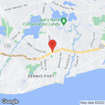 Map of Rite Aid at 711 Main St Route 28, Dennisport, MA 02639