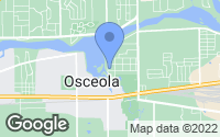 Map of Osceola, IN
