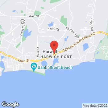 Map of Andrew Wang, MD at 710 Route 28, Harwich, MA 02646
