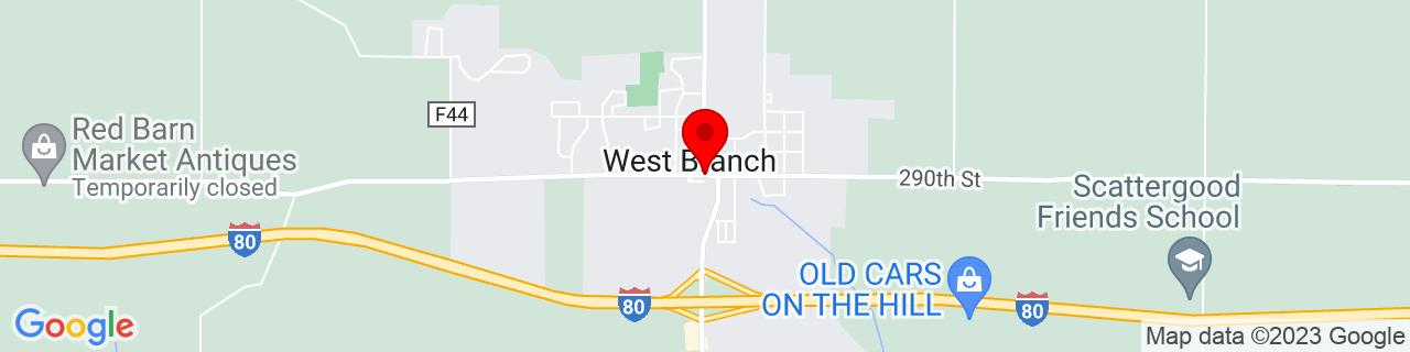 Google Map of 41.6714086, -91.3465521