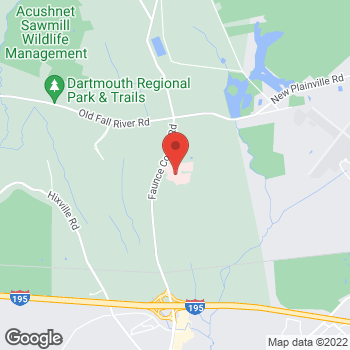 Map of George Wu, MD at 531 Faunce Corner Road, Dartmouth, MA 02747