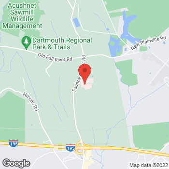 Map of Tie-Gang Ding, MD at 531 Faunce Corner Road, Dartmouth, MA 02747