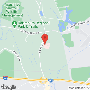 Map of Paul Westfall, MD at 531 Faunce Corner Road, Dartmouth, MA 02747