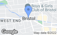 Map of Bristol, CT