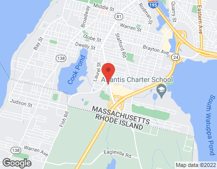 Map of 243 William S Canning Boulevard in Fall River