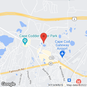 Map of C. Patricia Fater, MD at 735 Attucks Lane, Hyannis, MA 02601