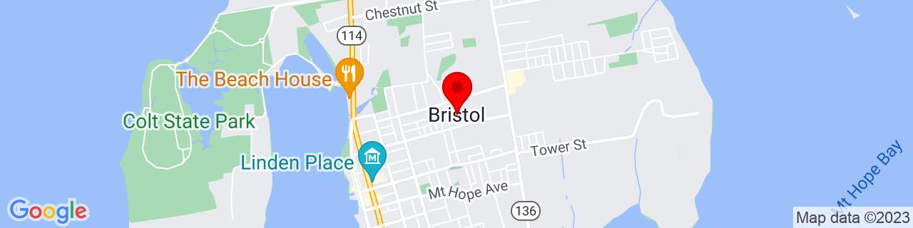 Google Map of 41.6771101, -71.26620249999999