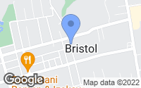 Map of Bristol, RI