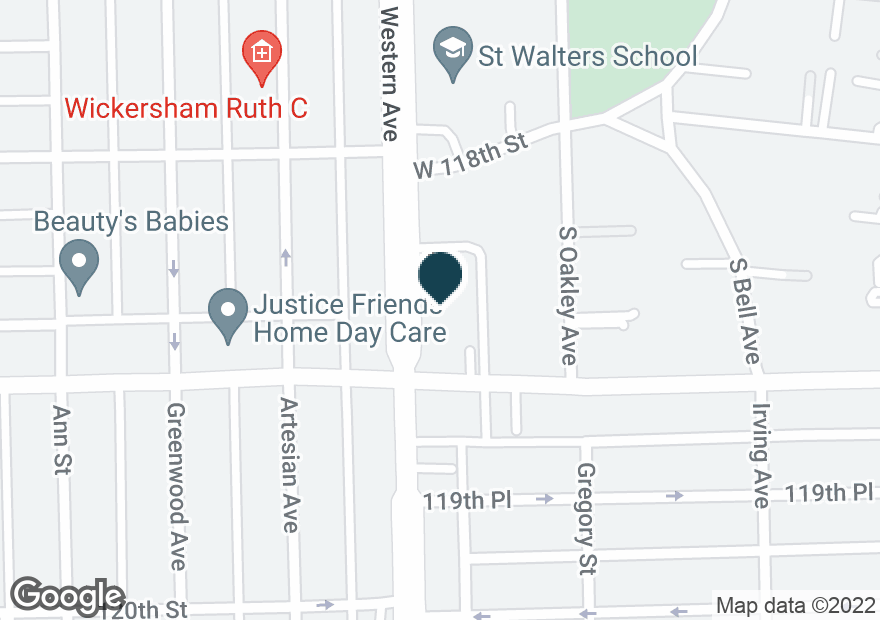 Google Map of11833 S WESTERN AVE