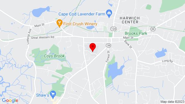 Google Map of 204 Sisson Road, Harwich, MA 02645