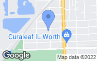 Map of Worth, IL