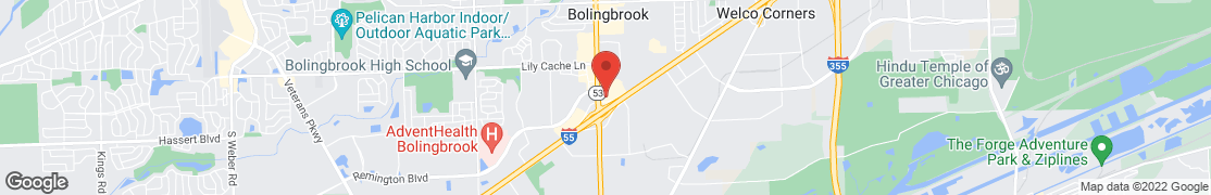 Map of 126 East North Frontage Rd. in Bolingbrook