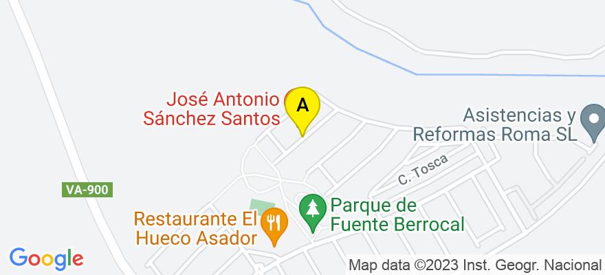situacion en el mapa de . Direccion: Walkiria 21, 47009 Valladolid. Valladolid