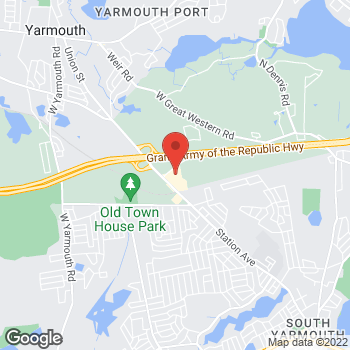 Map of Babak Jian Seyedahmadi, MD at 23A Whites Path, South Yarmouth, MA 02664