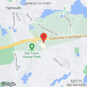 Map of Dale C. Oates, MD at 23A Whites Path, South Yarmouth, MA 02664