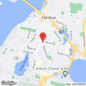 Map of Rite Aid at 10 Stafford Road, Fall River, MA 02721