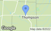 Map of Thompson, OH