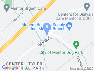 Map of PetWorks Dog Boarding options in Mentor | Boarding