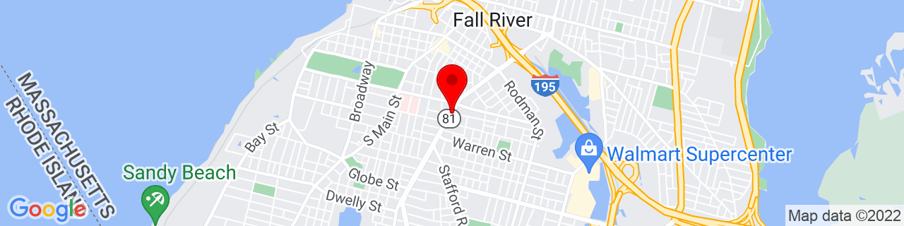 Google Map of 41.691442, -71.15794