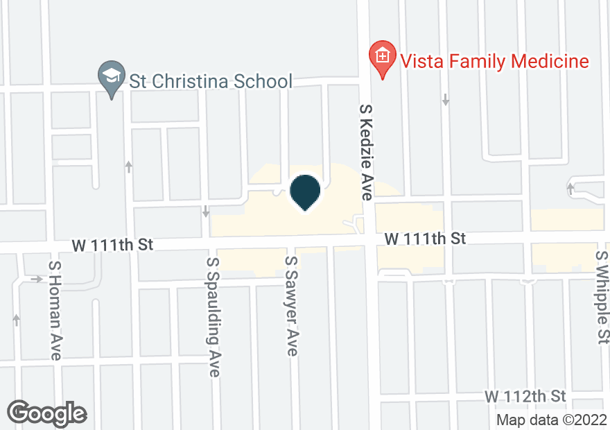 Google Map of3220 W 111TH ST