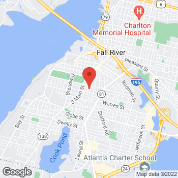 Map of Fall River Family Health at 851 Middle Street, Fall River, MA 02721
