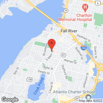 Map of Ibrahim Eid, MD at 901 South Main Street, Fall River, MA 02724
