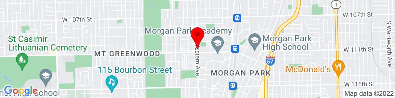 Google Map of 41.692574, -87.68116529999999