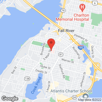 Map of Frederique Popitz-Bergez, MD at 795 Middle Street, Fall River, MA 02721