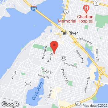 Map of Christina Gaetrakas, MD at 795 Middle Street, Fall River, MA 027211733