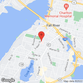 Map of William Zinn, MD at 795 Middle Street, Fall River, MA 027211733